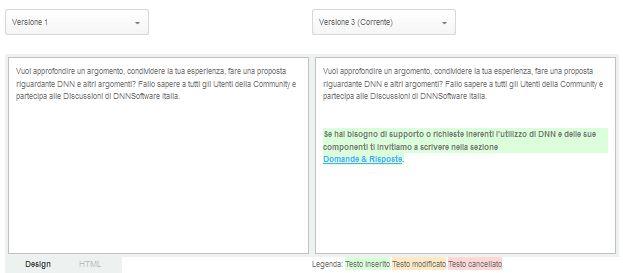HTML Editor Compare Version DNN Evoq